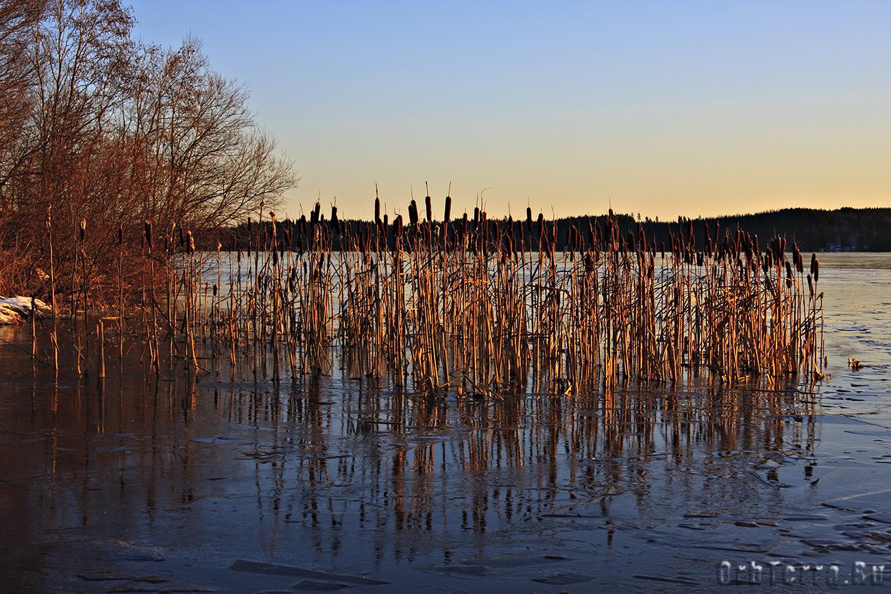 Как будто озеро замерзло мгновенно