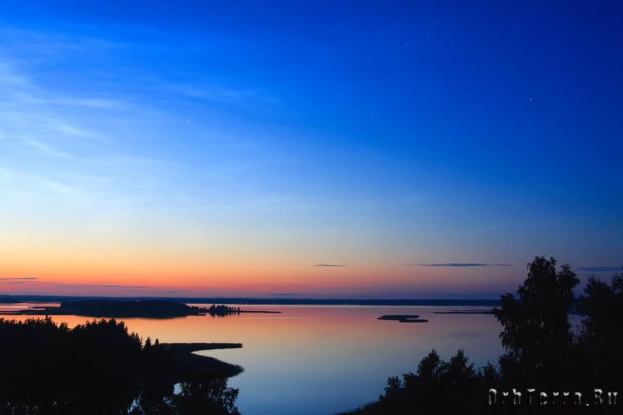 После заката. Озеро Снуды.