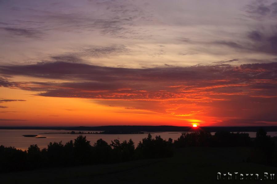 Рассвет. Озеро Снуды.