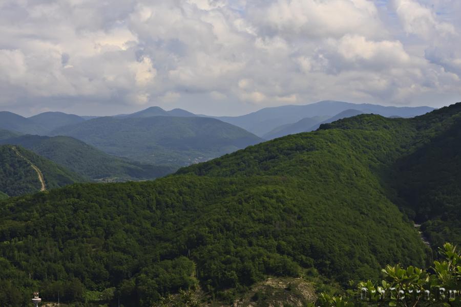 Вид с перевала.