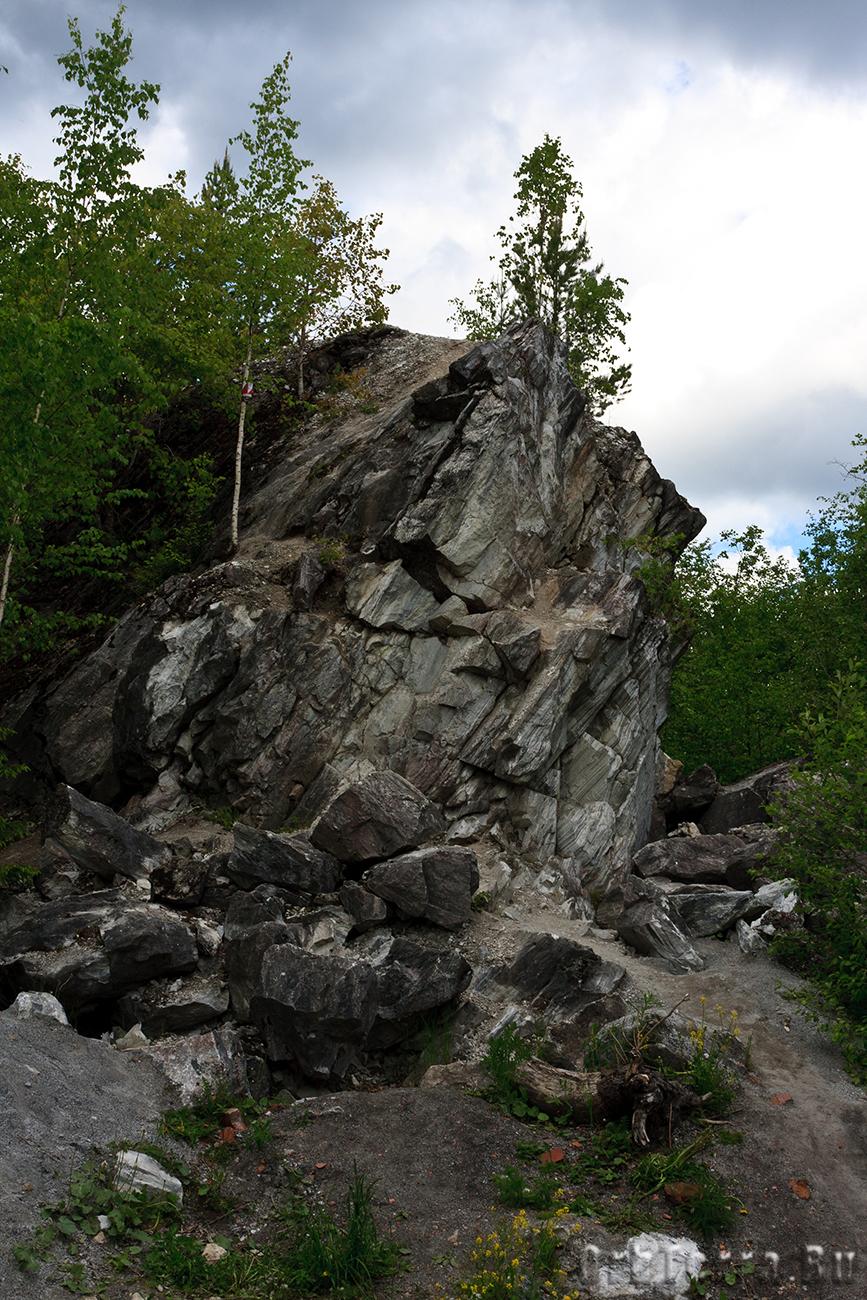 Мраморная скала.