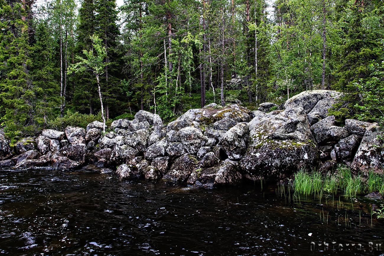 Каменные развалы.