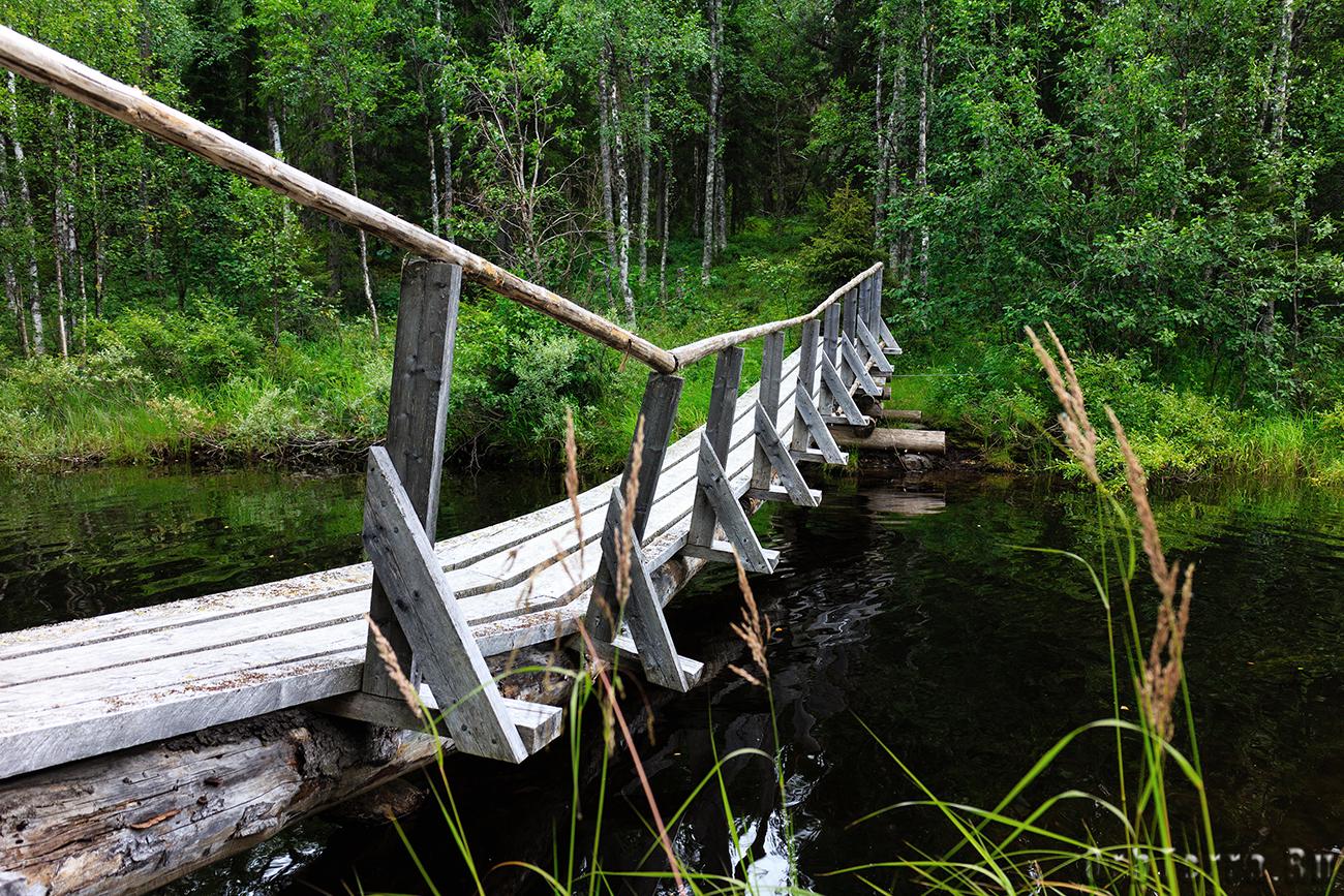 Мост через реку Муткайоки.