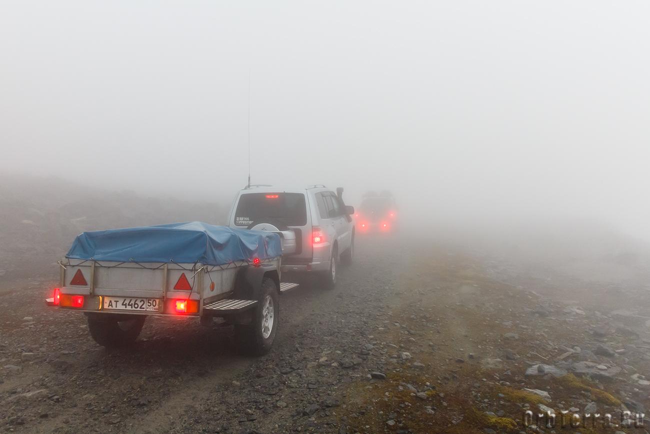 Низкая облачность на перевале Геологов.