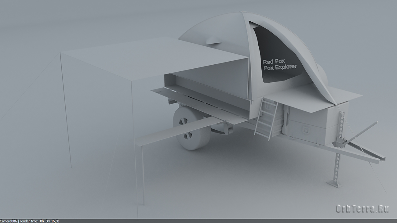 Эскиз-проект экспедиционного внедорожного прицепа.