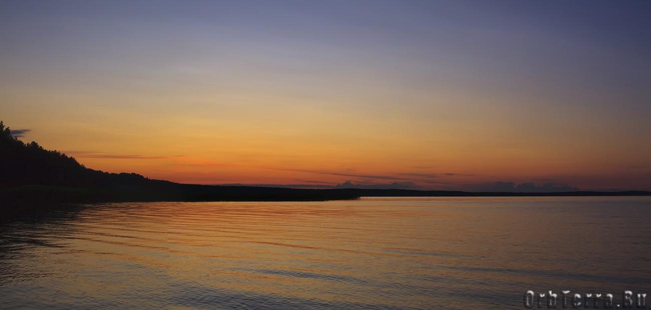 Озеро Нарочь. Закат.