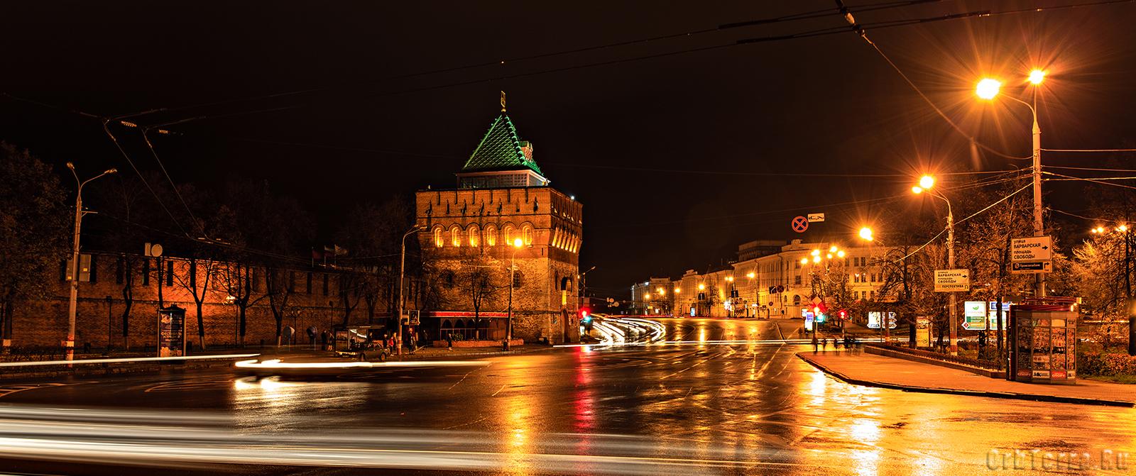 Ночной Нижний Новгород.