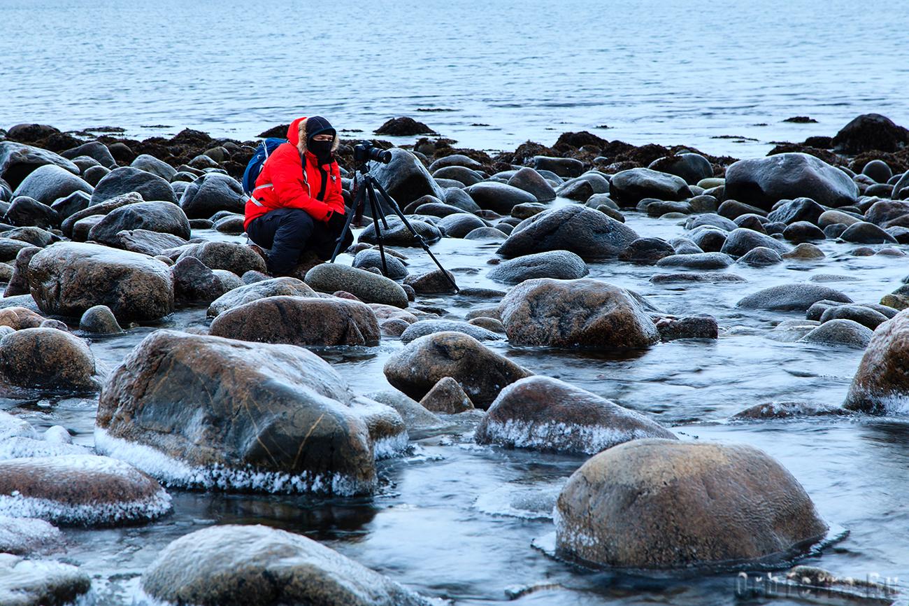 Хорошее снаряжение позволяет долго ходить по ледяной воде.