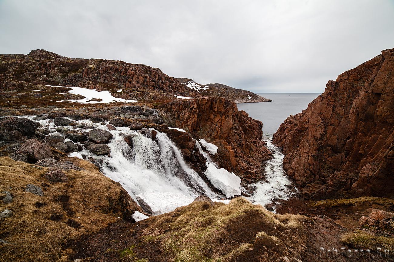 Водопад Териберский.