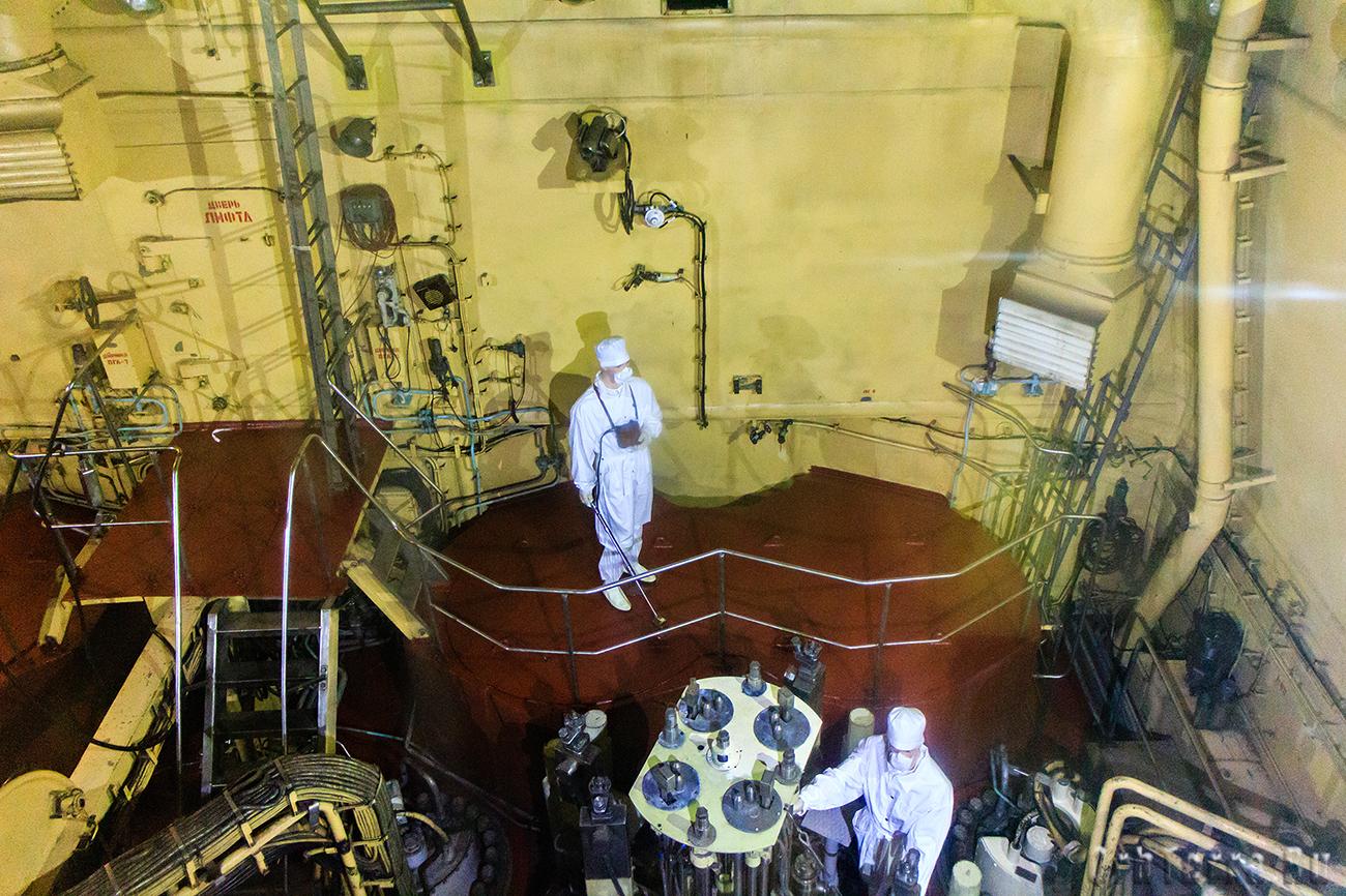 Верхняя часть реакторного отсека