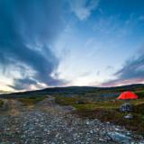Рыбачий. Красная палатка.