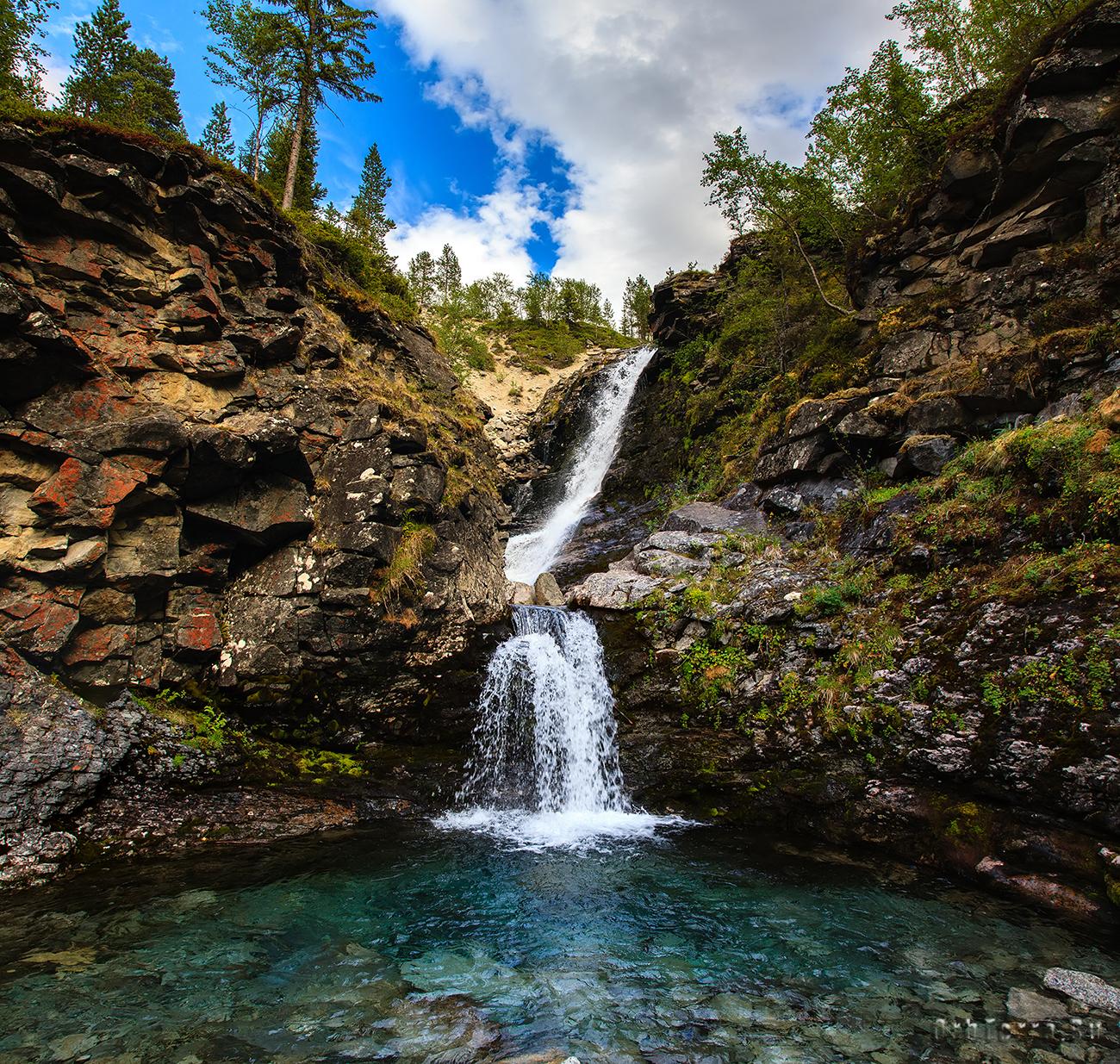 Водопад на реке Рисйок.