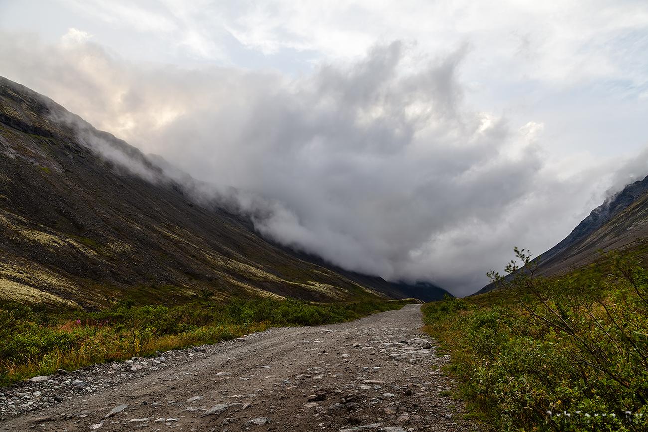 Дорога вдоль Вудьяврйок.