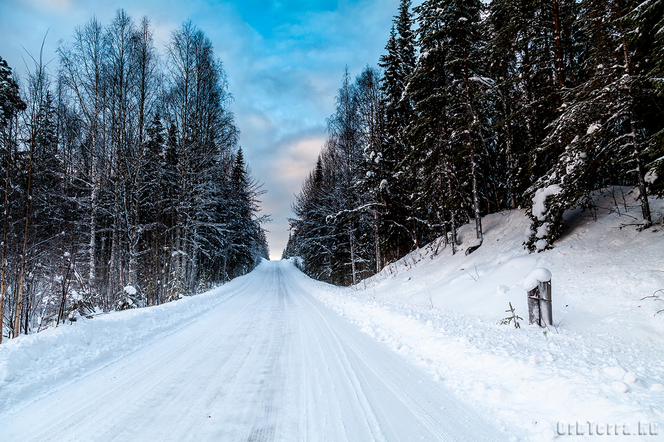 Дорога 86К-3. Зимние пейзажи.