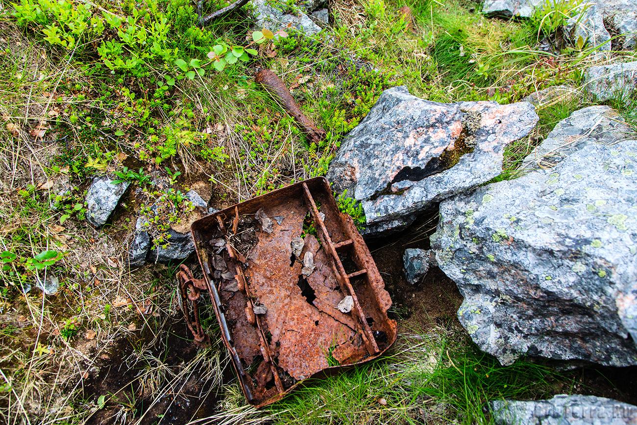 Неотстрелянная 81 мм немецкая мина.