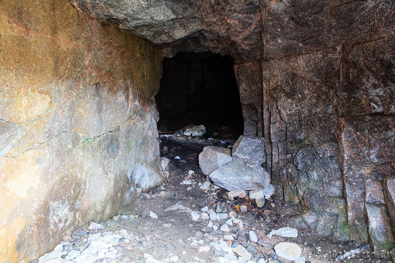 Один из немецких подземных ходов.